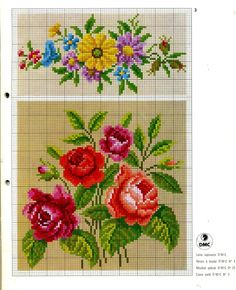1198 Best Cross stitch flowers and borders images in 2019