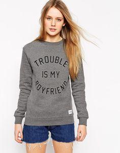 A Question Of Trouble Is My Boyfriend Sweatshirt