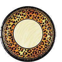 Safari Chic Leopard Print Party Supplies - Party City  sc 1 st  Pinterest & Leopard Print Dinner Plates 8ct | Maid of honor | Pinterest ...