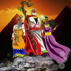 Miriam, Aaron, and Moses. Exodus 4:6 kjv and Jeremiah 14:2 kjv.