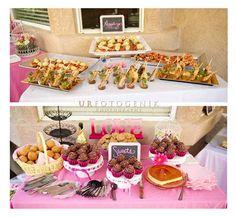 #bridalshowerdecor #Bridalshower #Decor #dessertbar #appetizerbar #food #bar #hotpink #bachelorette #party #diy #craftsbycynabon @nysnow