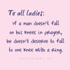 Marry a man who loves God first and foremost. SO GOOD! :) To all the single ladies, don't settle! Wait for God's best! :)
