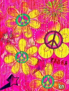 10/9/17 Hippie Peace, Happy Hippie, Hippie Art, Peace Love Happiness, Peace And Love, Perfect Peace, Cute Wallpaper Backgrounds, Cute Wallpapers, Peace Sign Art