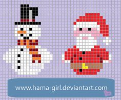Xmas Characters perler pattern by Hama-Girl on deviantART