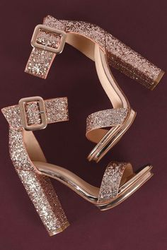 Shop This stunning platform heel features a sparkling glitter design, covered low platform, and chunky wrapped heel. Homecoming Shoes, Prom Shoes, Wedding Shoes, Unique Homecoming Dresses, Fancy Shoes, Pretty Shoes, Me Too Shoes, Aesthetic Shoes, Glitter Shoes