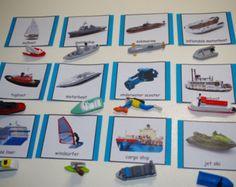 Sombra/silueta partido tarjetas Montessori por TheLaminatrix