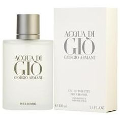 Acqua di Gio by Giorgio Armani Eau de Toilette Perfume Spray For Men Giorgio Armani Code, Perfume Giorgio Armani, Armani Cologne, Emporio Armani, Perfume Diesel, Perfume And Cologne, Men's Cologne, Cologne Spray, Jasmine