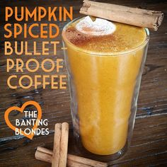 Pumpkin Spiced Bullet Proof Coffee - Low Carb, High Fat, LCHF, Banting friendly.
