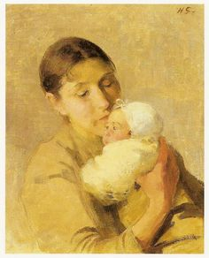 F I N S K A: Helene Schjerfbeck, tišina koja govori Helene Schjerfbeck, Helsinki, Cultural Crafts, Mother Pictures, Paintings I Love, Mother And Child, Female Art, Painting & Drawing, Art For Kids