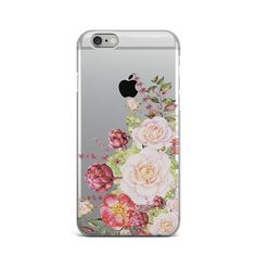 Flowers Floral Rubber Silicone Cover Case For iPhone 4 4S 5 5S 5c SE 6 6S 7 Plus #Apple