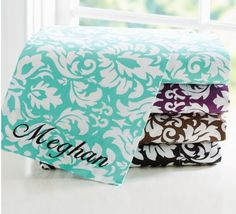Damask sheets; PB Teen
