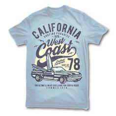 California West Coast T-shirt clip art