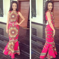 African Roma Ankara Dress is a beautiful full length dress made with rich African fabric. This outfit is available for custom order to fit any body size. African Prom Dresses, African Dresses For Women, African Attire, African Wear, African Women, African Style, African Outfits, African Clothes, African Shop