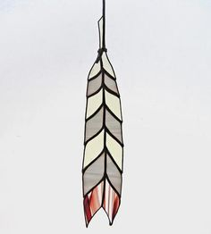 Chevron Stained Glass Feather by Colin Adrian Glass on Scoutmob Shoppe.