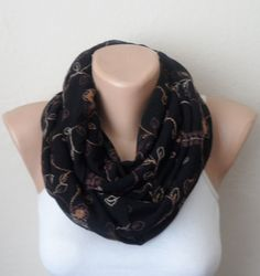 black infinity scarf brown embroidery patterns tulle fabric