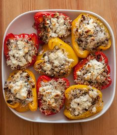 Stuffed pepper recipe, low-FODMAP - Our House For Tea