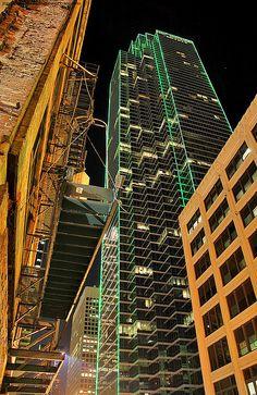 Dallas (view of Bank of America Building from Elm Street) Lone Star State, Bank Of America, Elm Street, Dallas, Skyscraper, Multi Story Building, Texas, Integrity, Skyscrapers