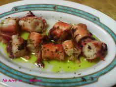 Να λείπει το ... βύσσινο!: Χταποδάκι ξυδάτο Most Delicious Recipe, Appetisers, Seafood Recipes, Menu, Yummy Food, Sea Food, Chicken, Greek, Kitchens
