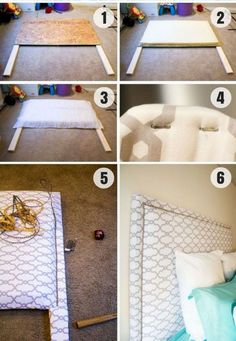 15 Easy DIY Headboard Project Ideas www.futuristarchi… 15 Easy DIY Headboard Project Ideas www. Diy Bed Headboard, Make Your Own Headboard, Diy Headboards, Headboard Ideas, Making A Headboard, Plywood Headboard Diy, Diy Full Size Headboard, Floating Headboard, Headboard Makeover