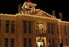 Johnson City, TX, is alight with holiday spirit, and in the center of the festivities is the Blanco County Courthouse draped with 100,000 twinkling lights.