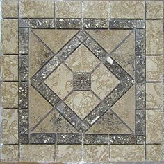 Tumbled Natural Stone Mosaic Medallion Indoor or Outdoor, Floor or Wall Tile Art ... Stone Deals http://www.amazon.com/dp/B01D6LKPRM/ref=cm_sw_r_pi_dp_duF7wb0CNT3PB