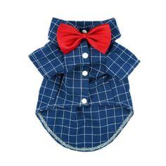Fitwarm Gentle Formal Blue Dog Shirts for Pet Polo Clothes Apparel + Red Wedding Bow Tie, Small, http://www.amazon.com/dp/B00M1NQEMW/ref=cm_sw_r_pi_awdl_SRv8ub17ZE0NK