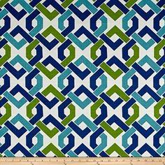 Curtain Print Waverly Folk Damask Seaspray Sewing