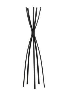 Satin Black Metal Contemporary Coat Rack Sponsored by Nordstrom Rack
