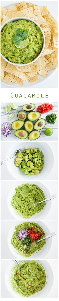 Guacamole - Another pinner wrote.the only guacamole recipe you'll ever need! I am still on the hunt for The ULTIMATE Guacamole recipe. need to check this out.<<< to make the Guacamole spicy add green salsa Mexican Food Recipes, Vegan Recipes, Cooking Recipes, Mexican Dishes, Avocado Recipes, Potato Recipes, Vegetable Recipes, I Love Food, Good Food