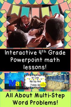 6 lessons about multi-step word problems.  Engaging, easy, and fun!  Fully Common Core aligned!