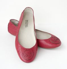 Michael Kors Red Leather Flats