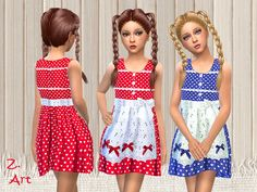 Sims 4 CC's - The Best: Dress Heidi by Zuckerschnute20