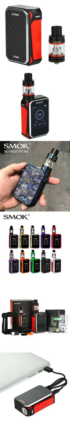 Authentic SMOK G-Priv Starter Kit with 220W Gpriv Box Mod & 5ml TFV8 Big Baby Tank G priv Touch Screen Vape Kit without Battery