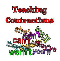 Fun ideas for teaching contractions