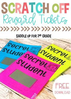 Looking for fun, cheap ideas for whole classroom rewards that promote positive behavior in elementary school? Click the image to learn how one teacher uses scratch off tickets and a secret student to achieve this! #classroomrewards #classroommanagement #behaviormanagement