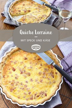 Quiche Lorraine: A spicy quiche with bacon and cheese meals Best Chicken Noodle Soup, Healthy Chicken Pot Pie, Chicken Soup Recipes, Best Chicken Wing Recipe, Bacon Quiche, Quiche Recipes, Easy Salad Recipes, Breakfast Casserole, Queso