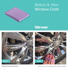 Fantastic results using the Norwex Window Cloth!