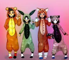 king-draws: a Onesie Party with Cartoonz, Ohm, Bryce and Delirious