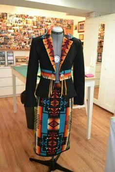 Pendleton Skirt with Jacket