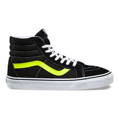 c01364d73e Neon Leather SK8-Hi Reissue  Size 9M 10.5W Yellow Vans