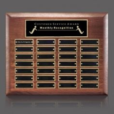 Promotional Products Ideas That Work: Sedgewick Perpetual Plaque - Walnut 28 Plate. Get yours at www.luscangroup.com