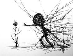 Sad drawings - this illustrator breaks the taboo of depression discover her 15 most touching drawings on the disease - - Creepy Drawings, Dark Art Drawings, Drawing Faces, Drawing Art, Animal Drawings, Depression Artwork, Depression Illustration, Drawing Tips, Sketches