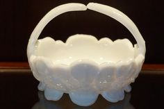 Westmoreland Milk Glass Basket