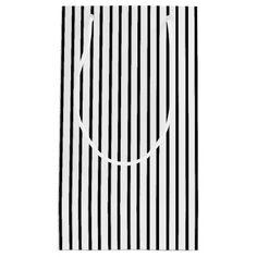 Black Pinstripe Gift Bag