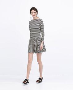 STRIPED JERSEY DRESS-Dresses-WOMAN   ZARA United States