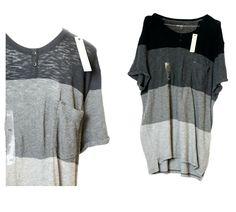 Calvin Klein BNWT Grey Striped Black Sweat Shirt T Jumper Sweater XXL Designer Beaded Flapper Dress, Patent Shoes, Sweat Shirt, Grey Stripes, Jumper, Calvin Klein, Tunic Tops, Shirt Dress, Sweaters