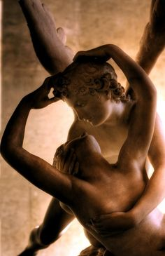 1787 antonio canova (italian 1757-1822) ~ psyche revived by cupid's kiss detail