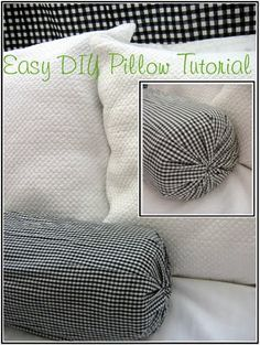 Easy DIY No Sew Neck Roll Pillow Tutorial How To Make Pillow Covers Whether you have long-standing a Sewing Pillows, Diy Pillows, How To Make Pillows, Pillow Ideas, Large Pillows, Sewing Crafts, Sewing Projects, Diy Projects, Neck Roll Pillow