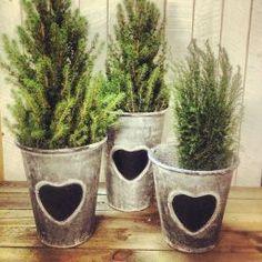 SINKPOTTER M/HJERTE Planter Pots, Villa, Canning, Home Canning, Fork, Villas, Conservation