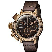 U-Boat Chimera Bronze /A Men's Automatic Watch with Brown Dial Chronograph Display and Brown Leather Strap Best Watches For Men, Automatic Watches For Men, Fine Watches, Cool Watches, Luxury Watches, Rolex Watches, Beautiful Watches, Watch Brands, Bracelets